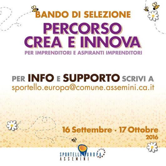 """Partecipa al bando """"Crea & Innova"""" del progetto cultura d'impresa."""